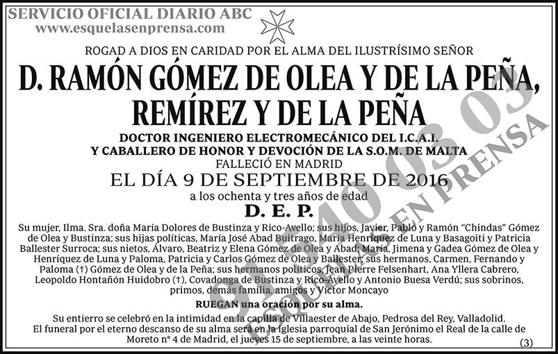 Ramón Gómez de Olea y de la Peña, Remírez y de la Peña